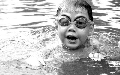 Zwemles-blackwhite